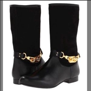 RACHAEL ZOE January Strap Black Boots Size 10